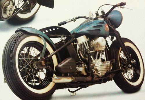 Bobber Inspiration   Harley-Davidson Panhead bobber   Bobbers and Custom Motorcycles