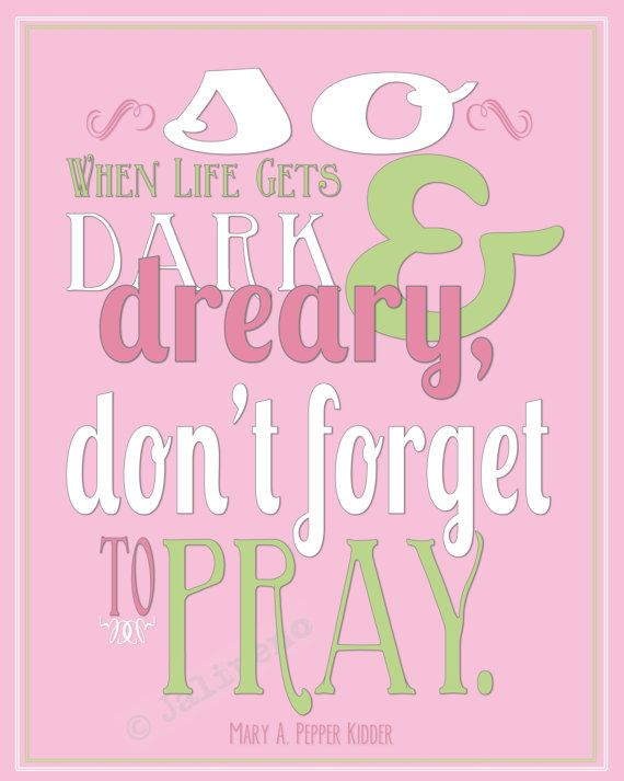 """Don't Forget to Pray"" INSTANT DOWNLOAD Printable 8x10 / 16x20 Religious Christian"