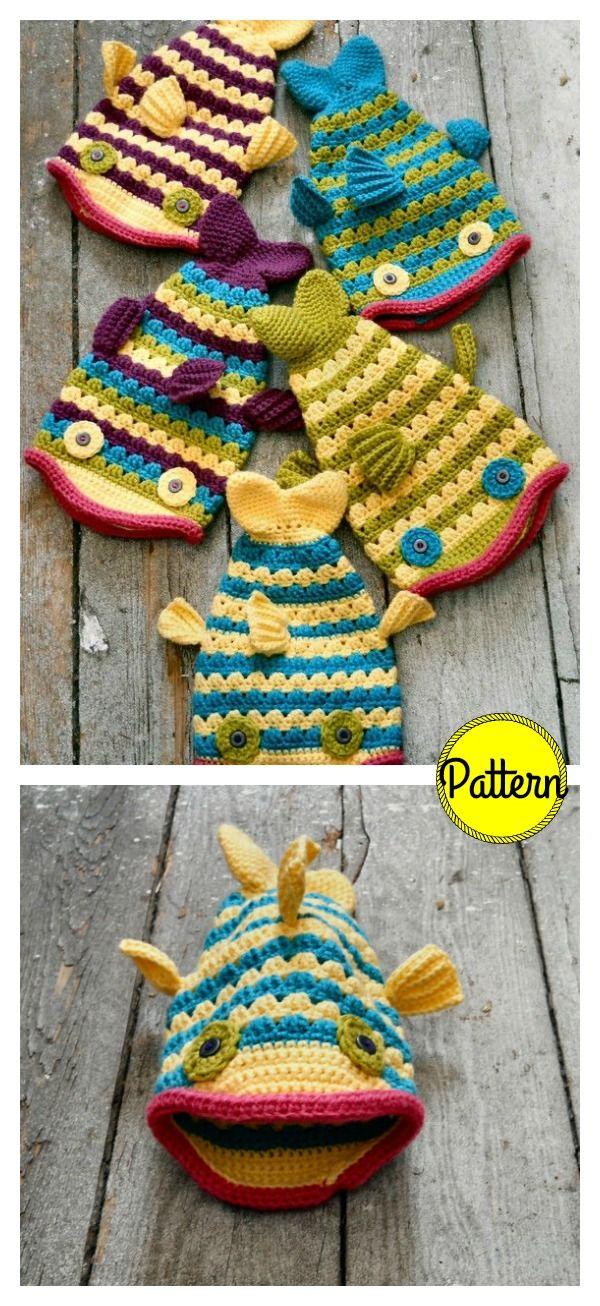 Fish Hat Crochet Pattern