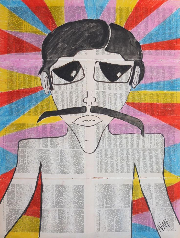 """Señor Jesus"" Art Brut / Outsider Art from german artist Ivan Summersky (www.ivansummersky.com)"