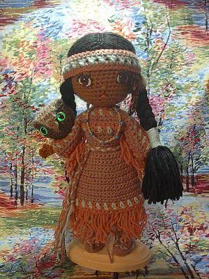 By Hook, By Hand: Free Spirit crochet Native American doll. (Free pattern).