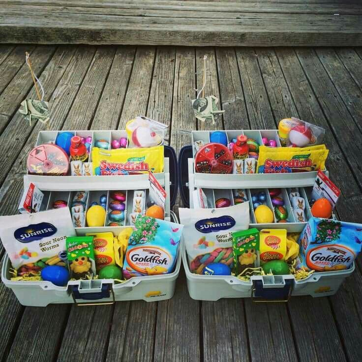 9 best images about easter gift ideas on pinterest easter diy adorable tackle box easter baskets negle Image collections