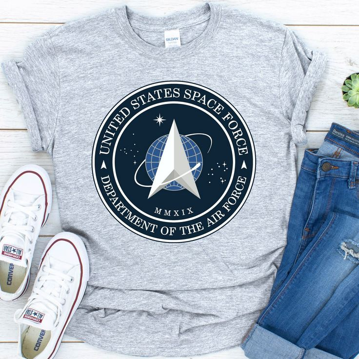 New Space Force Logo 2020 USSF TShirt Free Shipping by