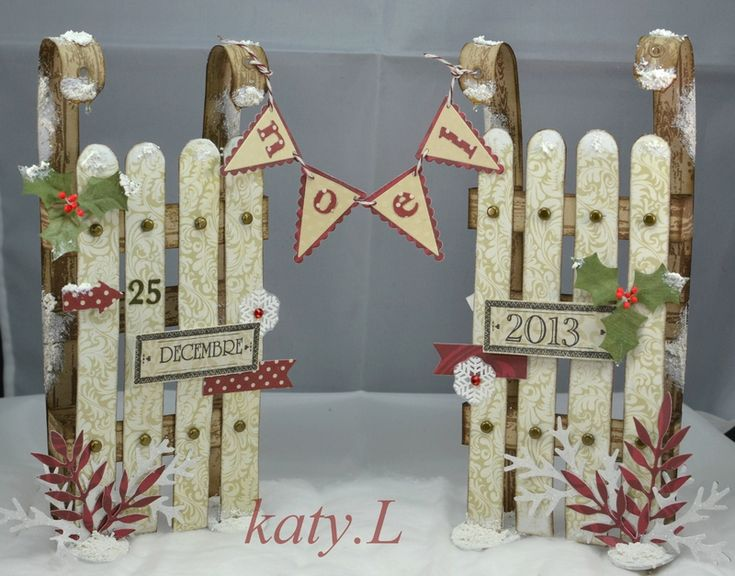 Inspiration Christmas sleigh display . Should be easy enough to create...lolly sticks or SVGCUTS.com christmas box cards kit spring to mind......