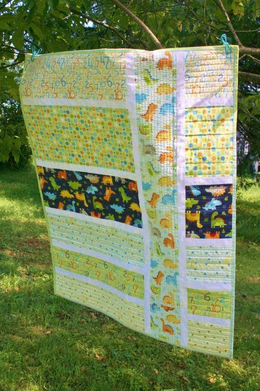 Modern Baby Quilt by SugarThreadz on Etsy, $125.00