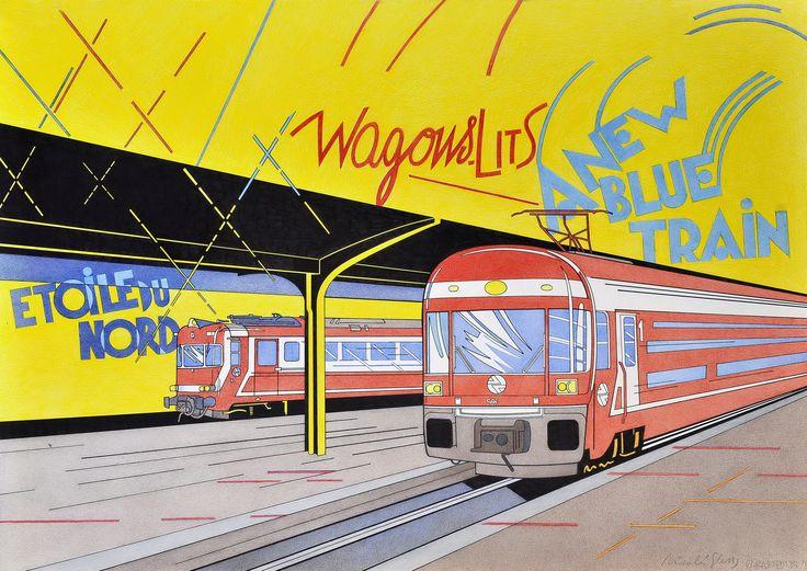 """""""Estación de Chamartín"""". Cuando vivía en Madrid acudí innumerables veces a esta estación. Obviamente los trenes son de cercanías, pero cerrando los ojos viajabas en Wagon Lits, L´Étoile du Nord o el Orient Express... Niza, Venecia, Estambul o Cercedilla."""