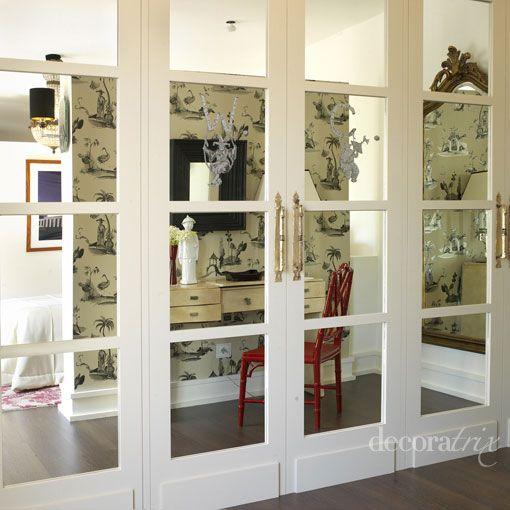 Las 25 mejores ideas sobre puertas de armario con espejos for Decoracion de armarios
