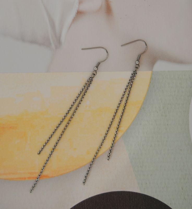 Twin chain earring DnD DESiGN  Örhängen av stål