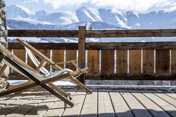chalet de luxe -view mont blanc -jaillet -ikone -luxury chalet -rental chalet -balcony -location saison