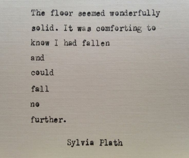 Sylvia Plath quote hand typed on antique typewriter