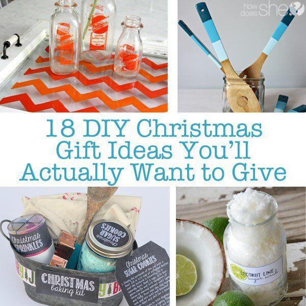 DIY and Crafts.  18 DIY Christmas Gift Ideas You'll Actually Want to Give.