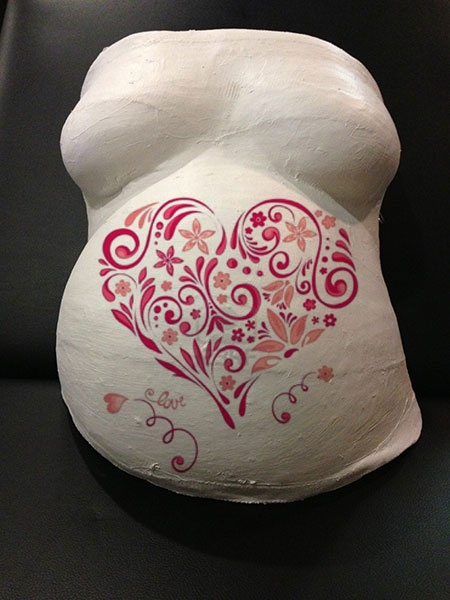 Scroll Of Heart Belly Cast - Created by Baby Captured
