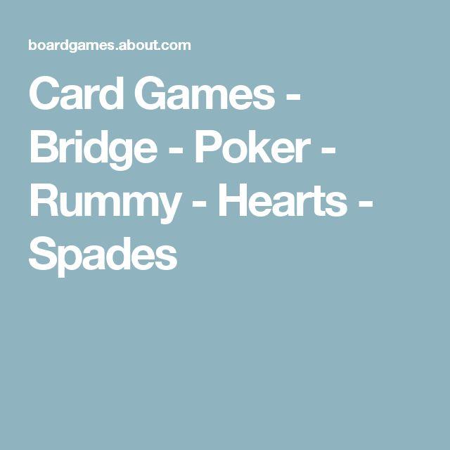 Card Games - Bridge - Poker - Rummy - Hearts - Spades