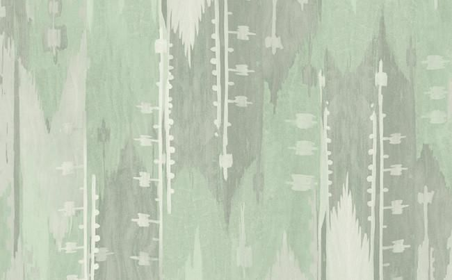 Abstract Stripes Wallpaper in Greens and Neutrals design by Seabrook Wallcoverings - BURKE DECOR