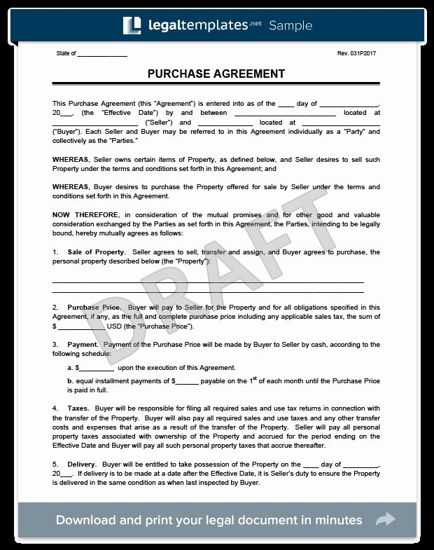 Purchase And Sales Agreement Basic With Exhibits Realcreforms