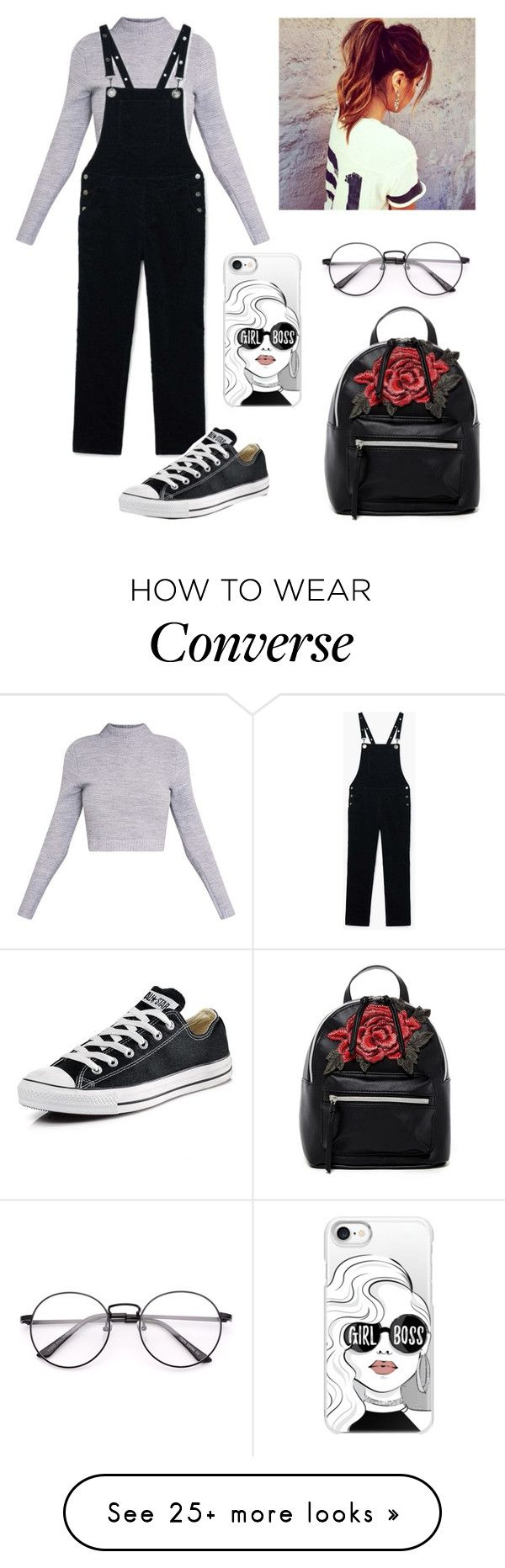 """Untitled #275"" by deppie-tom on Polyvore featuring MANGO, Converse, Casetify and T-shirt & Jeans"