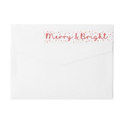 Merry & Bright Snowflake wraparound label - holiday card diy personalize design template cyo cards idea