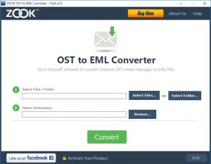 OST To EML Tool To Convert OST To Window Live, ZOOK OST to EML Converter easily export OST data to Windows Live Mail EML format by mainta...