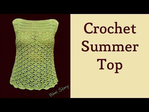 Summer Top – Crochet Lace Blouse (Heklana letnja bluza) - YouTube