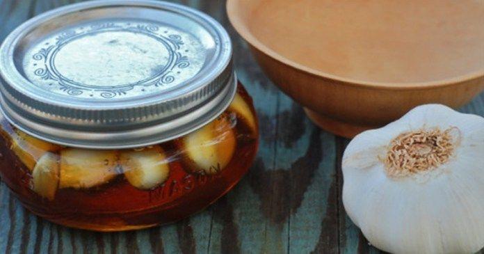 recept Přírodní lék - česnek naložený v medu