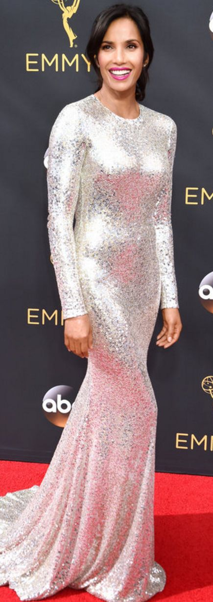 Padma Lakshmi wearing Lorraine Schwartz and Naeem Khan