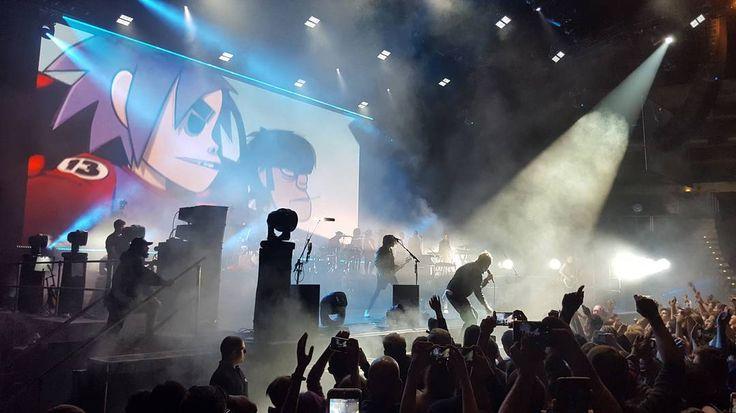 Gorillaz LIVE in O2 Arena Prague  #prague #concert #live #show #gorillaz #o2arena #rock #band #galaxys6 @gorillaz