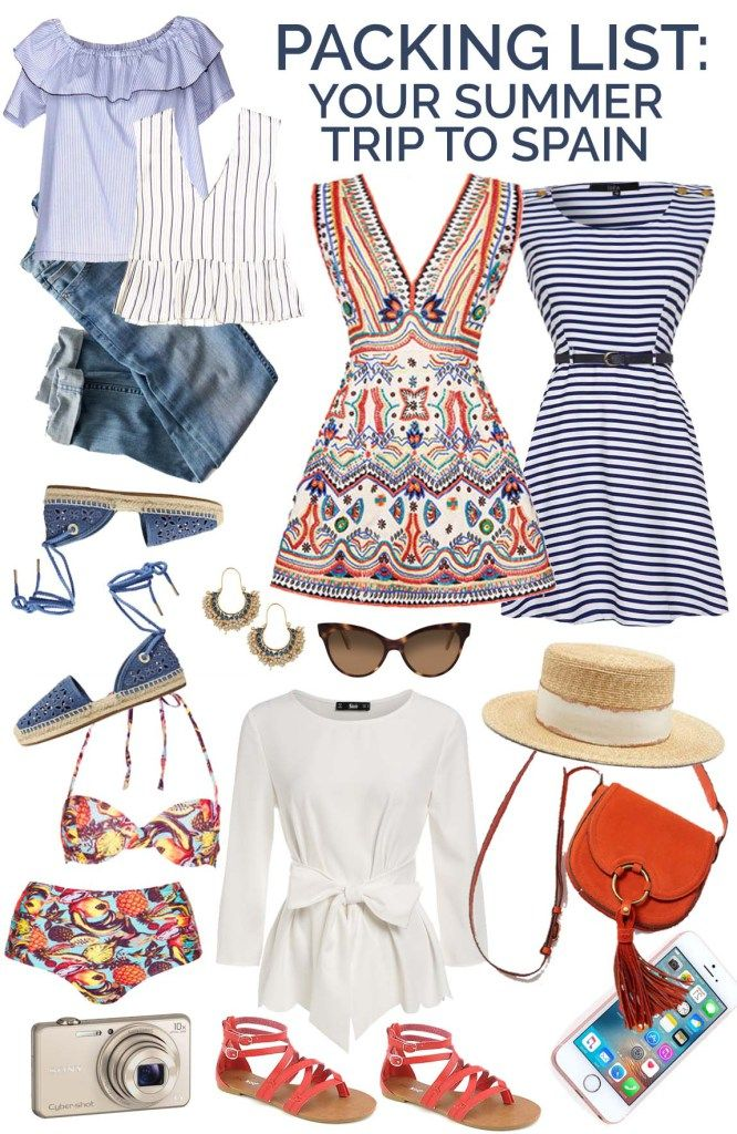 c7fa72fc308 Packing List for Europe  What to Take to Spain in Summer  What to Wear in  Spain  spain  europe  travel  packingtips Packing tips for vacation