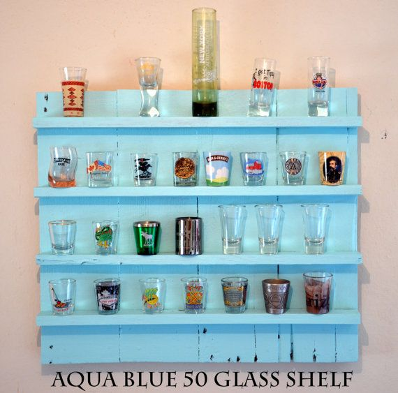 APRIL FOOLS DAY! Rustic Shot Glass Display /Shabby Chic// by Intrepidillusions, $50.00