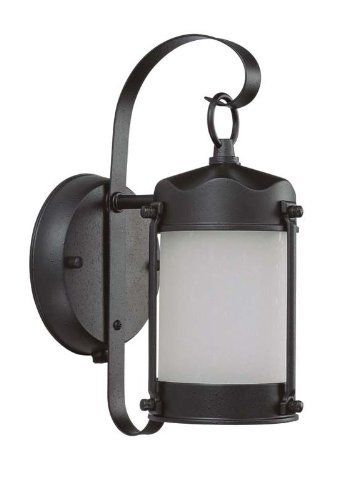 Nuvo Lighting 60/3946 One Light Piper Wall Lantern with Frosted Glass and Photocell, Textured Black by Nuvo. $19.99. From the Manufacturer                Energy Star Rated Piper Wall Lantern Finished In Textured Black with Frosted Glass and Photocell Width 5-Inch Height 10-5/8-Inch Extension 7-Inch Top to Outlet 6-Inch Includes 1- 13w Mini Spiral Lamp.                                    Product Description                60/3946 Energy Star: Yes Features: -One l...