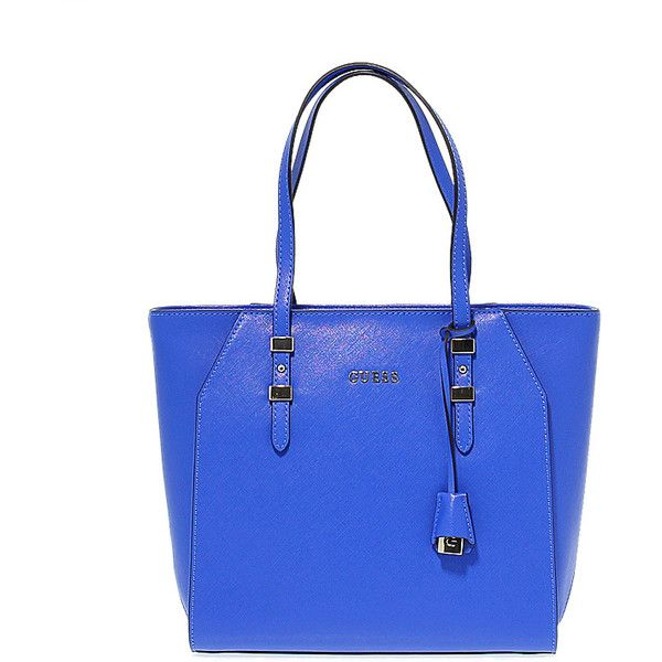 Guess Bag ($140) ❤ liked on Polyvore featuring bags, handbags, tote bags, guess tote, blue tote handbags, blue tote bag, guess tote bags and guess handbags
