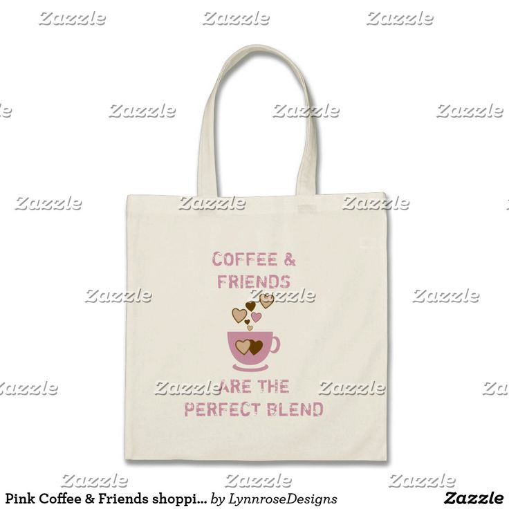 Pink Coffee & Friends shopping Tote Bag