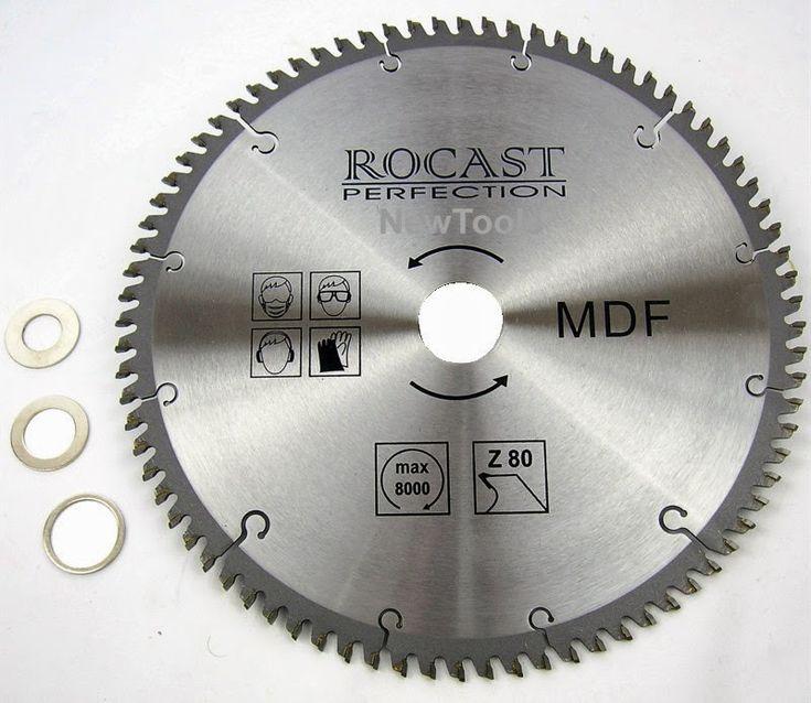 disco de serra circular mdf 10 250mm furo30 +3buchas rocast