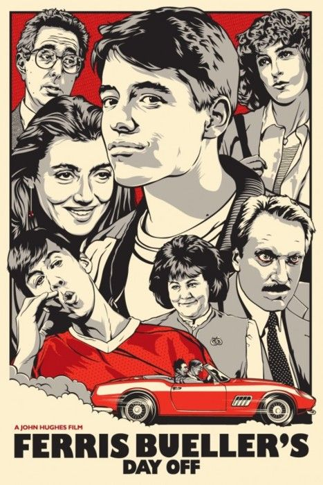 Bueller!: Movie Posters, Ferris Bueller, Funny Movie, Comic Books, John Hugh, Dayoff, Favorite Movie, Schools Kids, Save Ferris