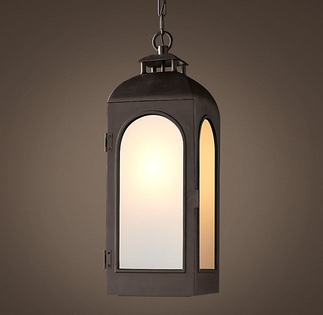 There Will Be 3 Hanging Lanterns In The Hall In Lieu Of Sconces. Two Larger  · Restoration Hardware OutdoorOutdoor LightingOutdoor ...