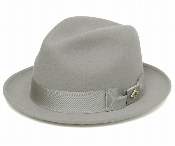 STACY ADAMS - CASHMERE BLEND FELT HAT, Grey