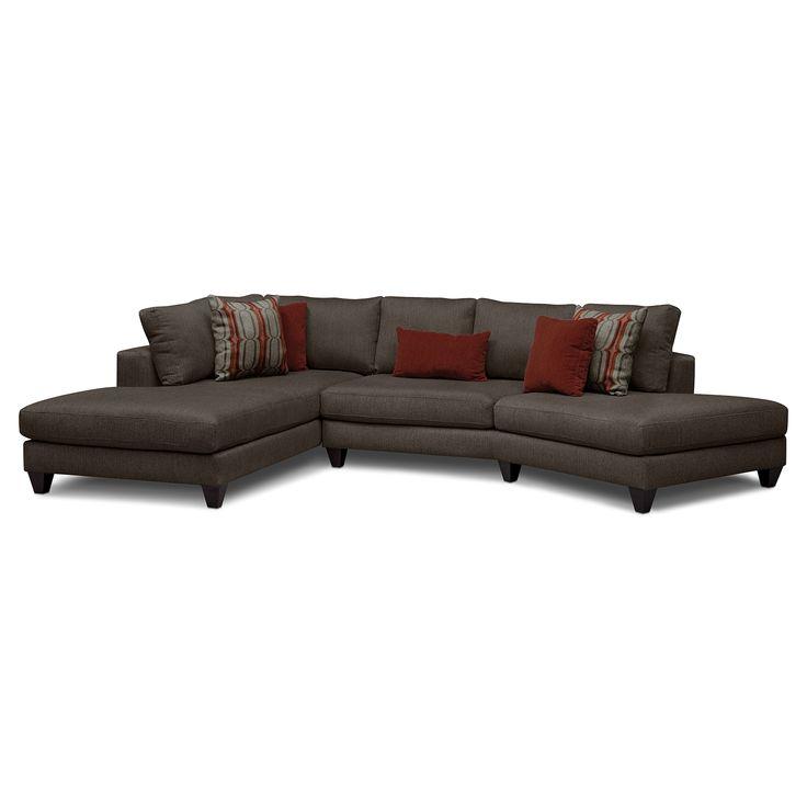 American Signature Furniture Sectionals #27: American Signature Furniture - Elan Upholstery 2 Pc. Sectional (Reverse)