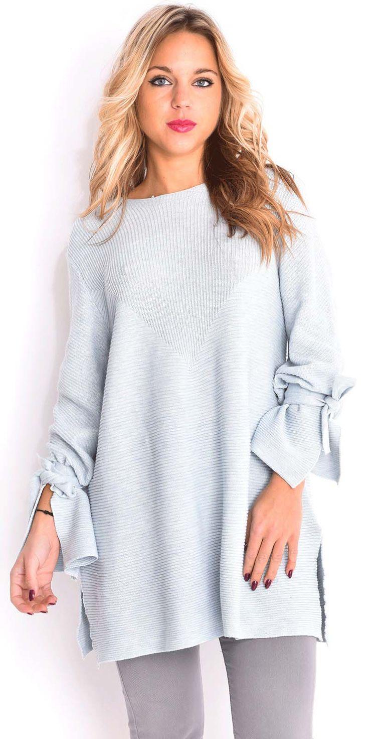 ΡΟΥΧΑ :: Bow Sleeves Oversized Knit Sweater - Vivel.gr | Γυναικεία Μόδα, Αξσουάρ, Κοσμήματα