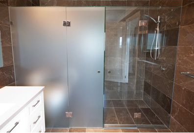 Frosted Glass Frameless Shower Screens
