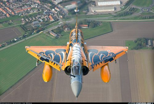 Dassault Mirage 2000C of the Armée de l'Air - French Air Force. The paintscheme is for the NATO Tiger Meet