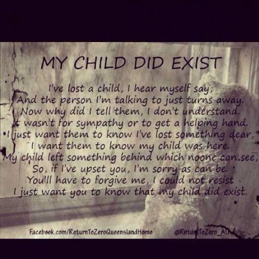 My child did exist