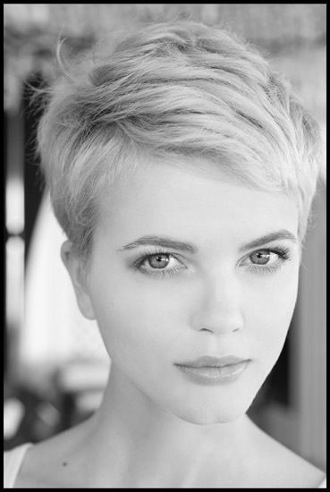 Blonde pixie. I love this haircut & style! I really wish I could get away with this cut I would soo Rock This Style!!