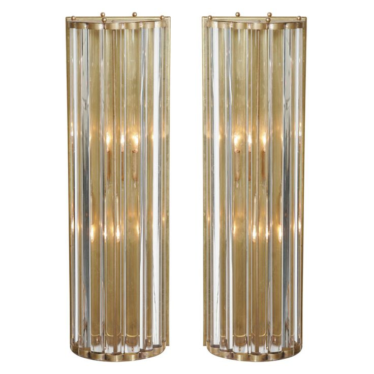 Pair Of Brass Wall Lights | From a unique collection of antique and modern wall lights and sconces at http://www.1stdibs.com/furniture/lighting/sconces-wall-lights/