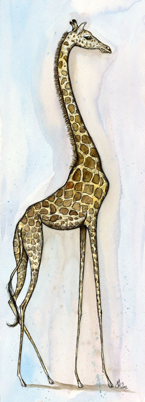 Impresión del arte de jirafa por AlmostAnAngel66