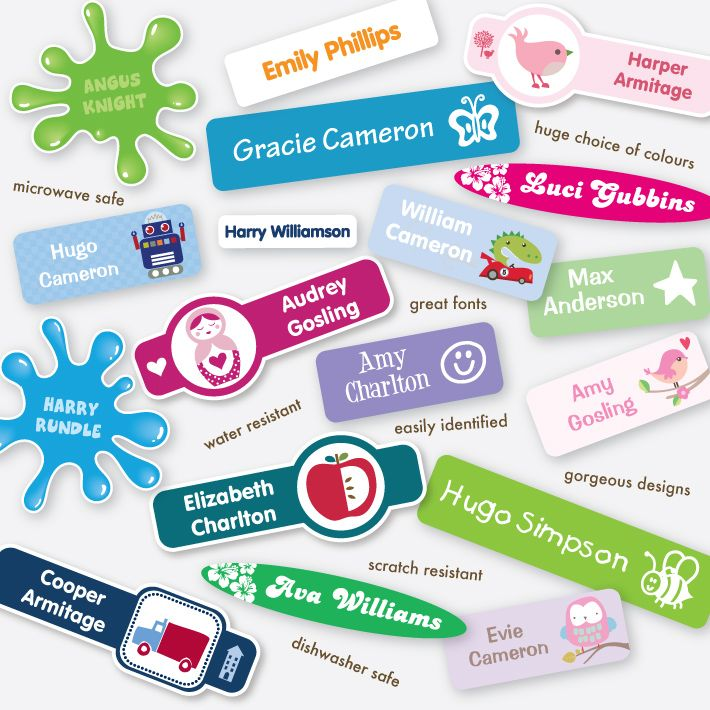 The coolest kids name labels and school labels stuck on you personalised labels gifts trusted for over 15 years and satisfaction guaranteed