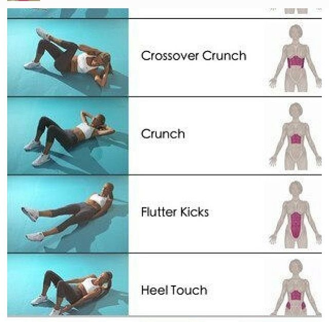 Heel touch for lower abs
