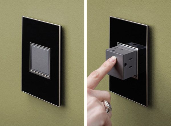 Flushmounted popout electrical outlets
