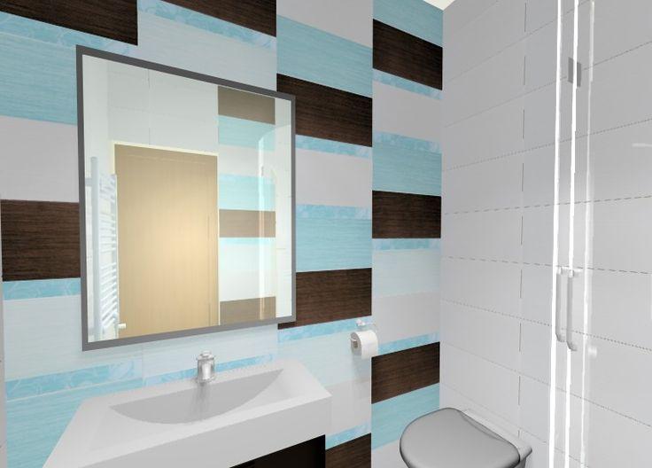 Fürdőszoba burkolati terve Zalakerámia Kendo csempével