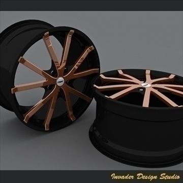 TSW Rocket 5 Auto rims 3D Model- A high quality model designed to increase the visual appeal of your work.Multiple formats included: .max, .3ds, .aof (Artlantis file).Enjoy this new release from Invader Design Studio. - #3D_model #Other Autos,#Sport