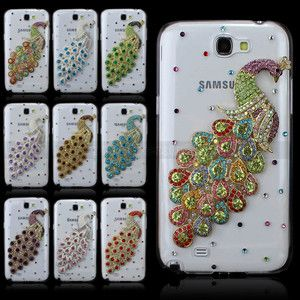 Cute Galaxy Note 2 Cases Diamonds | Diamond Peacock Crystal Clear for Samsung Galaxy Note II 2 N7100 Case ...