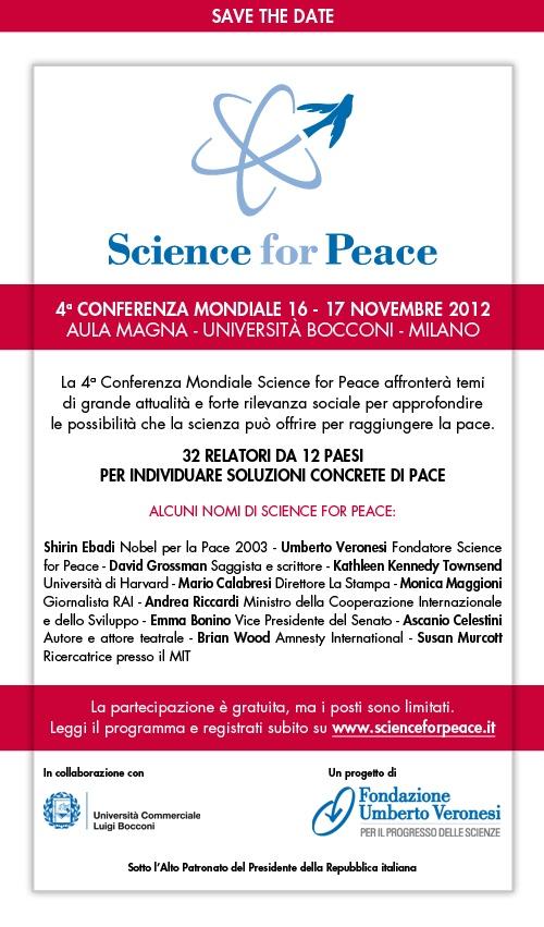 #s4p2012: perchè la #pace è un diritto di tutti. Le registrazioni sono aperte! http://www.fondazioneveronesi.it/divulgazione/science-for-peace/registrazione/